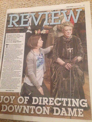 SUNDAY EXPRESS REVIEW SEPTEMBER 2015 MAGGIE SMITH DOWNTON ABBEY PHOTO COVER