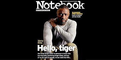 IDRIS ELBA PHOTO COVER UK NOTEBOOK MAGAZINE 2016 Robson Green Alan Rickman