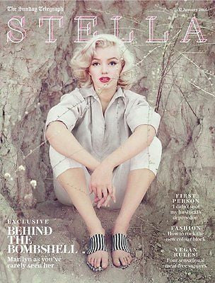 (UK) STELLA MAGAZINE JANUARY 2016 MARILYN MONROE PHOTO COVER EXCLUSIVE