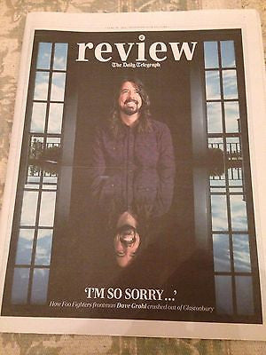 FOO FIGHTERS Dave Grohl PHOTO INTERVIEW TELEGRAPH JUNE 2015 DAVID SUCHET POIROT