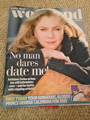 WEEKEND MAGAZINE 2014 KATHLEEN TURNER AUDREY HEPBURN TYNE DALY RICHARD HAMMOND