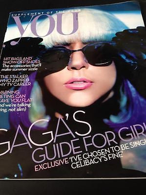 LADY GAGA PHOTO UK EXCLUSIVE COVER INTERVIEW YOU MAGAZINE APRIL 2010