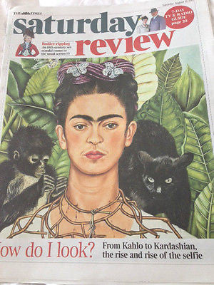 UK TIMES REVIEW AUG 2015 FRIDA KAHLO DAVID BYRNE Talking Heads ANEURIN BARNARD