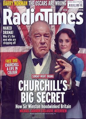 MICHAEL GAMBON Churchill Robson Green Tom Hiddleston Radio Times Magazine 2016