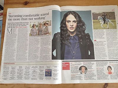 JESSICA FINDLAY BROWN interview DOWNTON ABBEY UK 1 DAY 2014 ISSUE THE TIMES 2