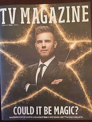 UK Sun TV Magazine January 2017 Gary Barlow Take That Interview