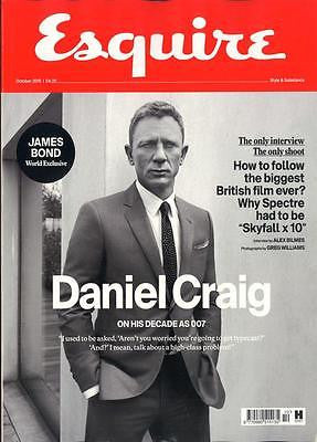 UK ESQUIRE MAGAZINE OCTOBER 2015 DANIEL CRAIG JAMES BOND SPECTRE PHOTO INTERVIEW