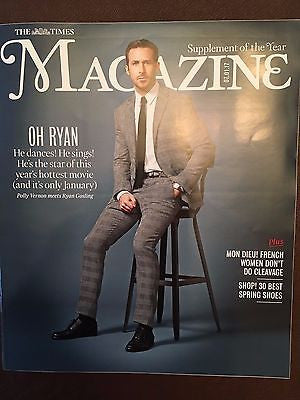 UK Times Magazine January 2017 Ryan Gosling La La Land Interview David Bowie