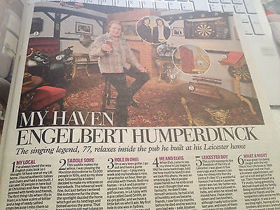 ENGELBERT HUMPERDINCK Photo Interview 2014 Eve Best Danielle Harold Peter Firth