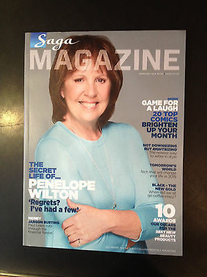 SAGA magazine February 2015 PENELOPE WILTON Downton Abbey Photo Interview