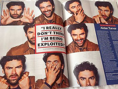 (UK) SHORTLIST MAGAZINE MAY 14 2015 AIDAN TURNER POLDARK HUNK PHOTO INTERVIEW - SAM HEUGHAN