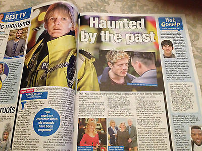 WE LOVE TV MAGAZINE 2014 SUSANNA REID JOHN SIMM SARAH LANCASHIRE COLIN MORGAN