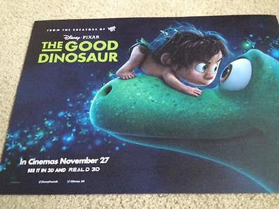 Pixar THE GOOD DINOSAUR Original UK Cinema Movie Poster