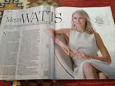 NAOMI WATTS PHOTO INTERVIEW YOU MAGAZINE 2015 NICK JONAS FREDDIE FOX ED SPEELERS