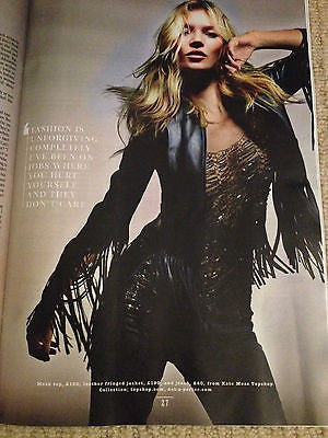 Topshop Collection KATE MOSS PHOTO COVER INTERVIEW APRIL 2014 BRAND NEW ISSUE
