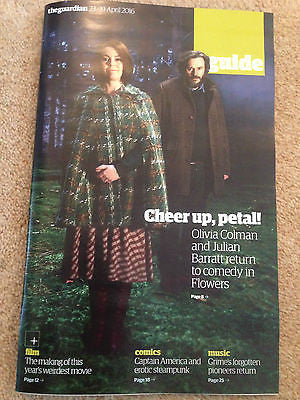 Guide Magazine April 2016 Olivia Colman RICHARD MADDEN Julian Barratt FLOWERS
