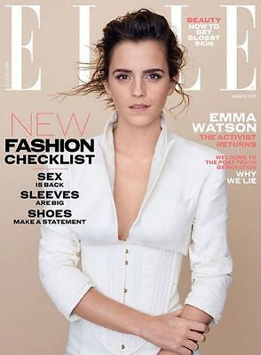 BRITISH ELLE magazine March 2017 - Emma Watson - Cover and Exclusive Interview