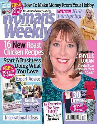 Downton Abbey PHYLLIS LOGAN PHOTO INTERVIEW UK MAGAZINE MARCH 2015