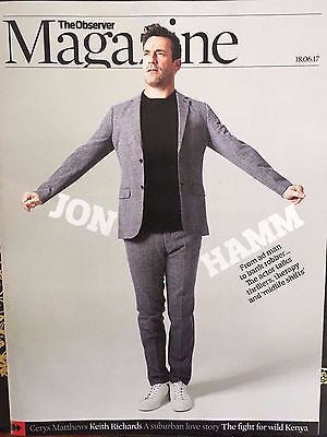 UK Observer Magazine June 2017 John Hamm Keith Richards The Rolling Stones