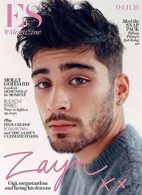 ZAYN MALIK Photo Cover interview UK ES MAGAZINE November 2016