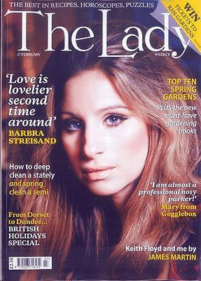 UK LADY Magazine February 2017 BARBRA STREISAND PHOTO COVER INTERVIEW