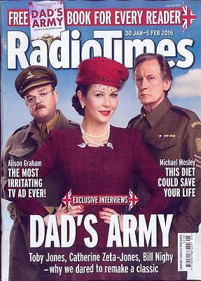 RADIO TIMES 30 JAN 2016 CATHERINE ZETA-JONES BILL NIGHY AIDAN TURNER PHOTO COVER