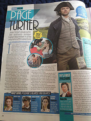 TV MAGAZINE MARCH 7 2015 AIDAN TURNER POLDARK CAROLINE CATZ HANNAH TOINTON