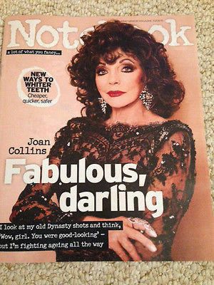 UK Joan Collins Notebook Magazine Promo Clippings Interview August 2015 NEW