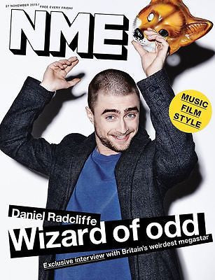 Harry Potter DANIEL RADCLIFFE Photo Cover interview UK NME MAGAZINE NOV 2015
