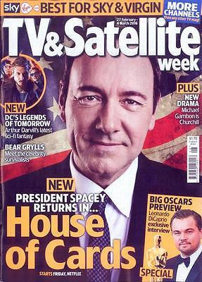 House of Cards KEVIN SPACEY Photo Cover UK Mag 2016 ROBIN WRIGHT ARTHUR DARVILL