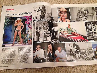 BRIGITTE BARDOT PHOTO SPECIAL UK TIMES MAGAZINE AUG 2016 NICO ROSBERG INTERVIEW