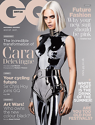UK GQ Magazine August 2017 Cara Delevingne Exclusive Cover Interview