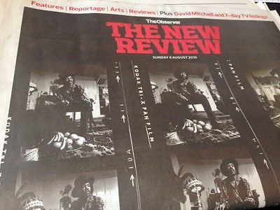 JIMI HENDRIX PHOTO COVER UK OBSERVER NEW REVIEW SEPT 2010