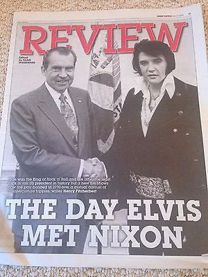 ELVIS PRESLEY Meets PRESIDENT NIXON PHOTO UK COVER EXPRESS REVIEW JUNE 2016