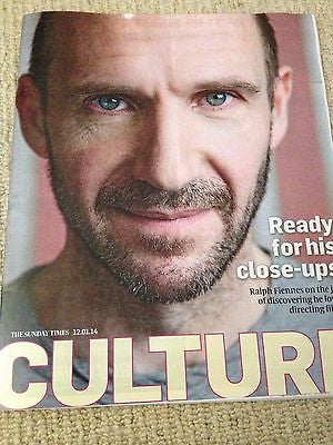 RALPH FIENNES interview TARKA CORDELL UK 1 DAY ISSUE NEW 2014 MICHAEL FASSBENDER
