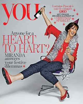MIRANDA HART PHOTO COVER INTERVIEW UK YOU MAGAZINE DECEMBER 2014