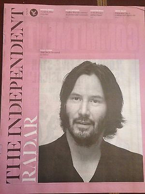 KEANU REEVES PHOTO INTERVIEW INDEPENDENT RADAR MAGAZINE APRIL 4 2015 BRAND NEW