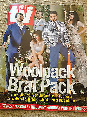 WE LOVE TV JUNE 2014 ADAM THOMAS MICHAEL PARR KELVIN FLETCHER LAURA NORTON