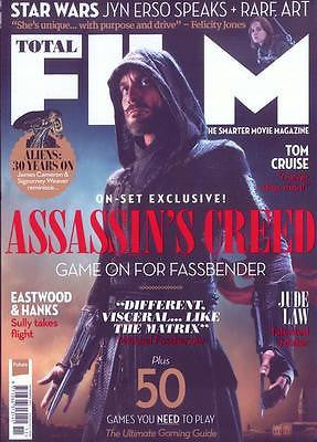 TOTAL FILM MAGAZINE 11/2016 MICHAEL FASSBENDER Bob the Cat ASSASSIN'S CREED