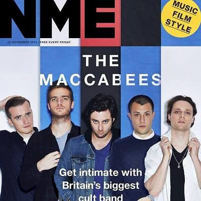 THE MACCABEES UK NME MAGAZINE NOVEMBER 2015 - BRING ME THE HORIZON RUPERT EVANS