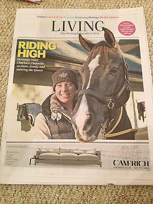 CHARLOTTE DUJARDIN PHOTO COVER INTERVIEW NOVEMBER 2014