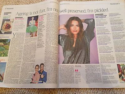 YASMIN LE BON interview SIMON duran duran Times Weekend UK supplement June 2016