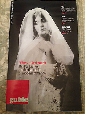 UK Guardian Guide Magazine May 2016 Bat For Lashes Photo Cover Interview