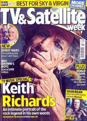 UK TV & Satellite Magazine July 2016 Rolling Stones KEITH RICHARDS Photo Cover