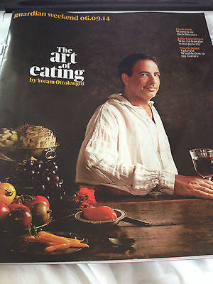 GUARDIAN WEEKEND SEPTEMBER 2014 YOTAM OTTOLENGHI DERMOT O'LEARY SCARLETT THOMAS