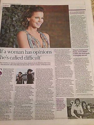 KATE BECKINSALE - JANE AUSTEN Telegraph Living UK supplement 15 May 2016
