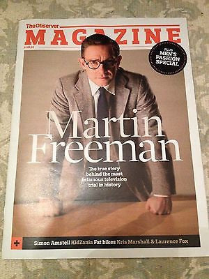 Sherlock MARTIN FREEMAN Photo Cover interview OBSERVER MAGAZINE January 2015