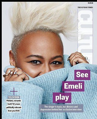 EMELI SANDE Aidan Turner Jack Farthing UK Culture Magazine September 2016