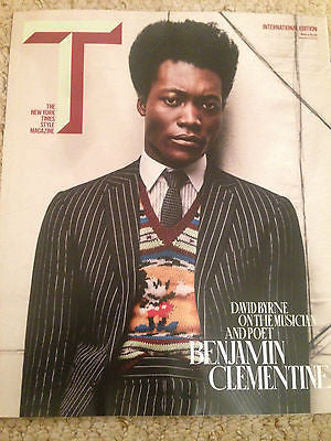 DAVID BYRNE ON BENJAMIN CLEMENTINE PHOTO COVER NY TIMES Magazine 2016 RAF SIMONS