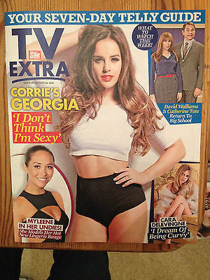Coronation Steet GEORGIA MAY FOOTE PHOTO COVER INTERVIEW AUG 2014 CONAN O'BRIEN